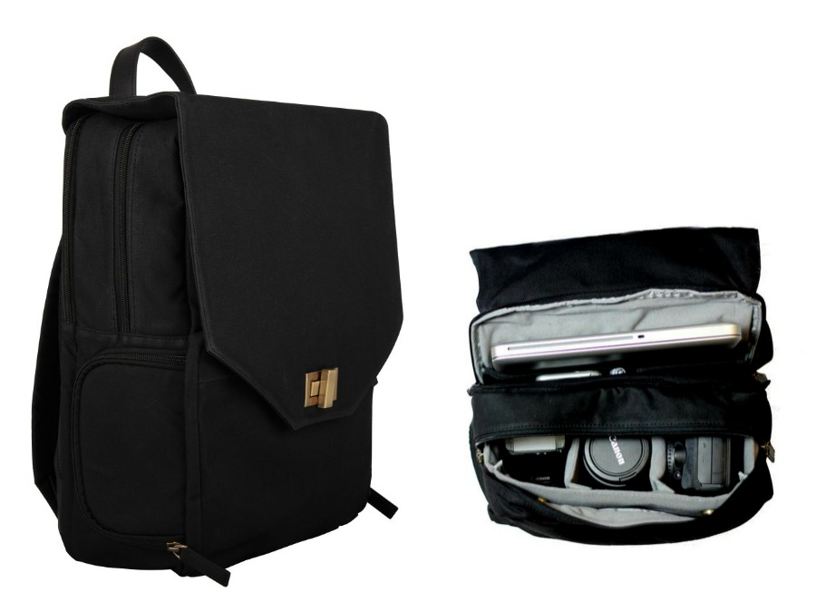 Great travel tech gift ideas: Johansen Bellbrook backpack for cameras and laptops