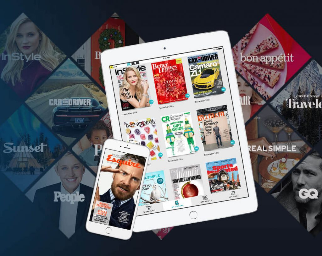 Great tech travel gifts: A subscription to Texture gives you access to 200+ magazines each month