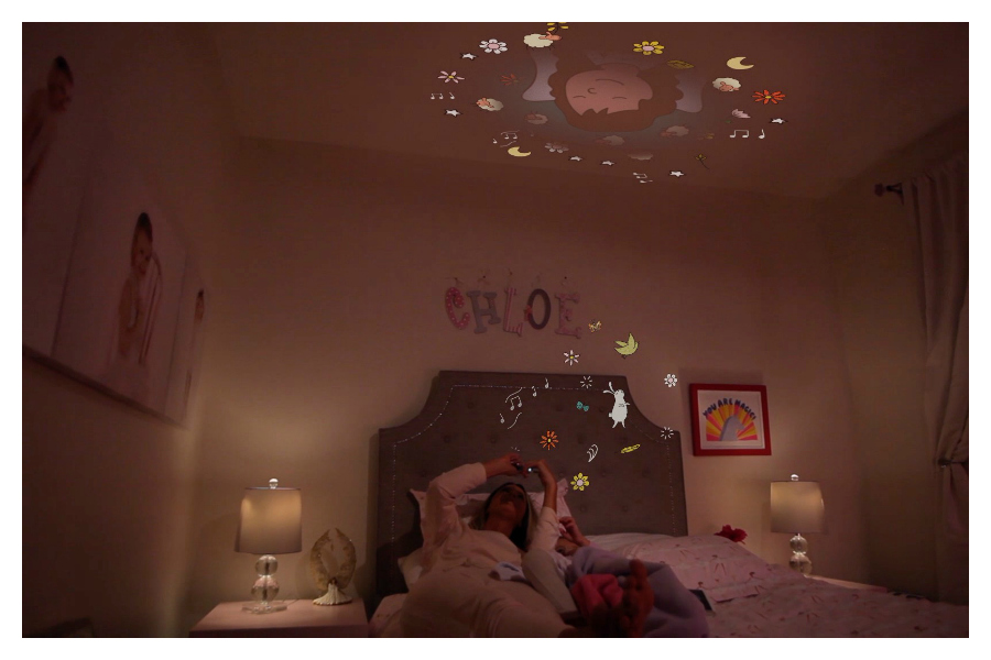 Moonlite, the magical device that projects bedtime stories right onto your ceiling.