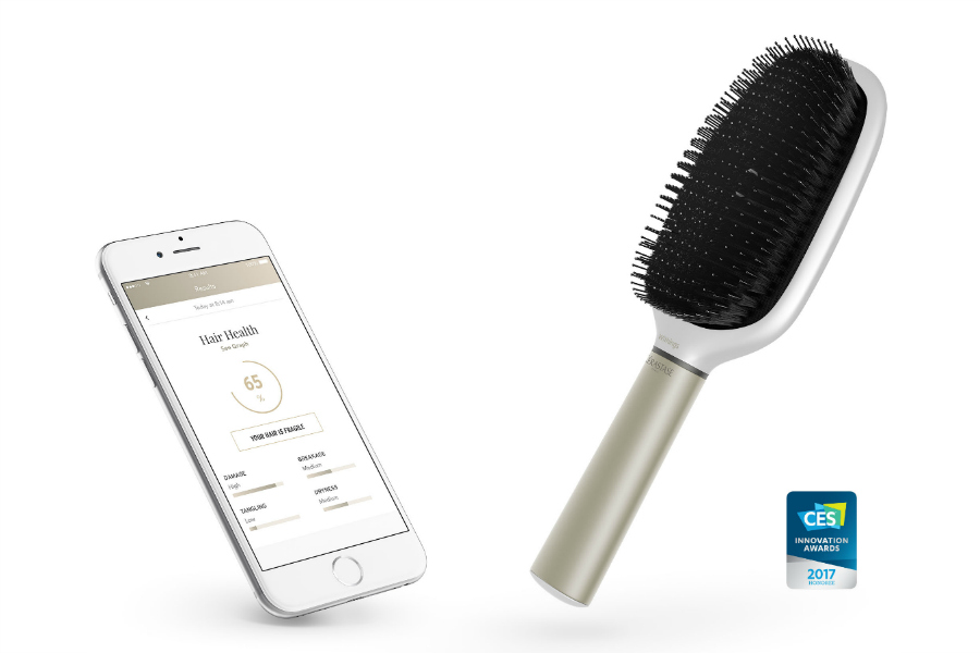 The Hair Coach smart hair brush. Yeah, we can't figure out why either.