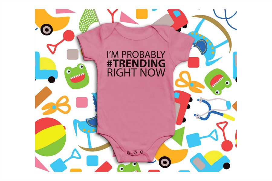 5 geeky baby onesies that are perfect for Mark Zuckerberg and Priscilla Chan's new baby. Or any social media lover's offspring.