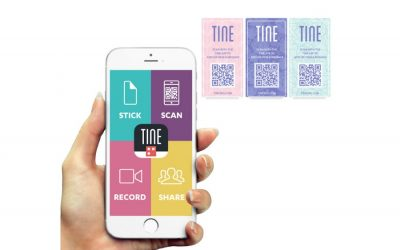 Tine lets you add digital photos, even video, to a paper greeting card. Hello, Mother's Day!