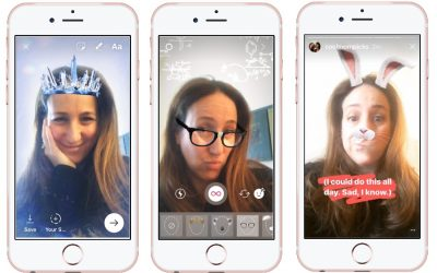 How to use the fun new Instagram 3-D facial filters. Wheeeee! Snapchatty