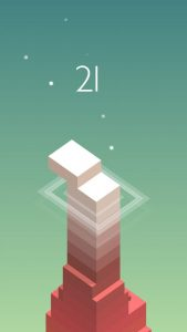 The gorgeous, free puzzle app game Stack.