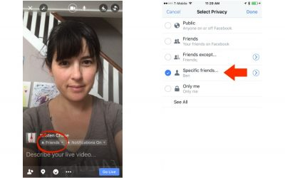 How to host a Facebook Live just for specific friends (and why you should).