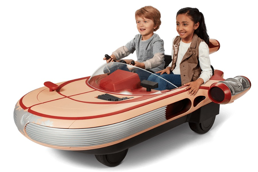 The new Luke Skywalker Landspeeder Ride-On will be the envy of every Star Wars fan this holiday! | CoolMomTech.com