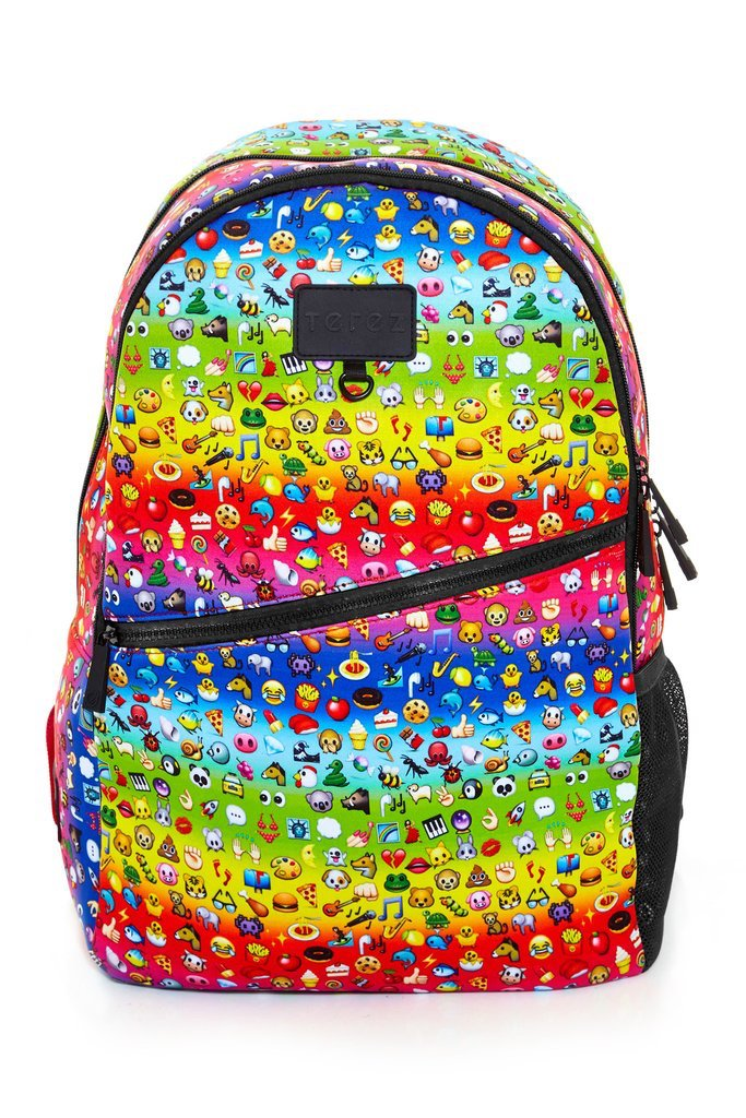 Emoji Movie activities and gear: Rainbow Emoji backpack at Terez
