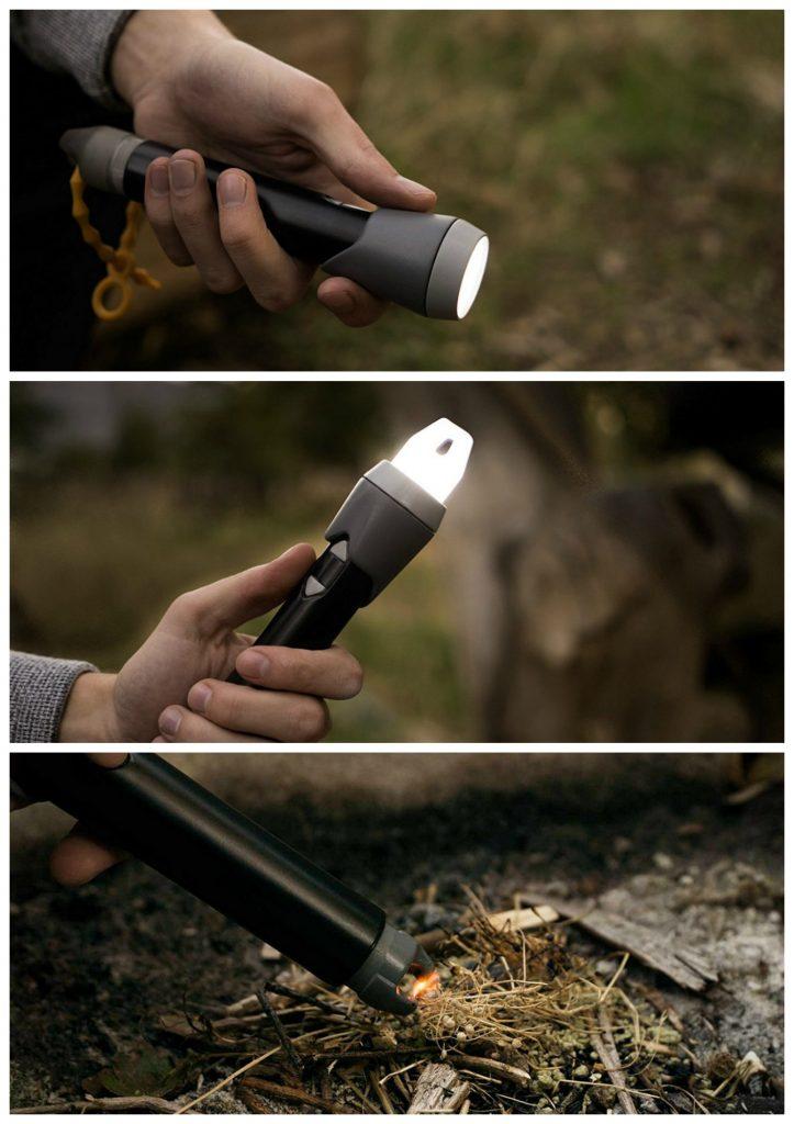 Sparkr LED flashlight-lantern-spark lighter hybrid. Genius! | coolmomtech.com