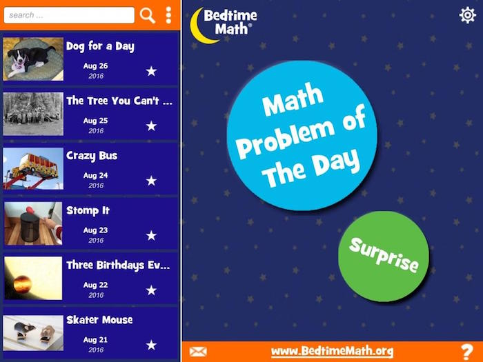 Best math apps for kids: Bedtime Math