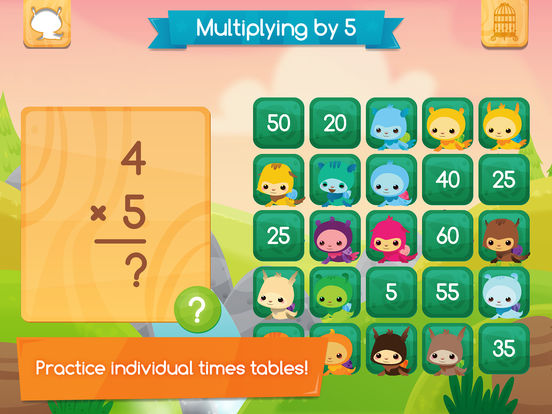 Best math apps for kids: Pet Bingo