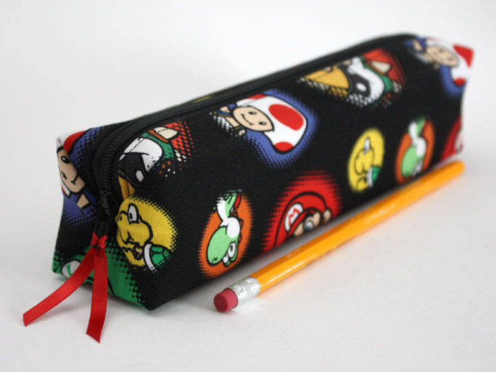Nintendo Mario handmade pencil case | coolmomtech.com best gamer gear for back to school