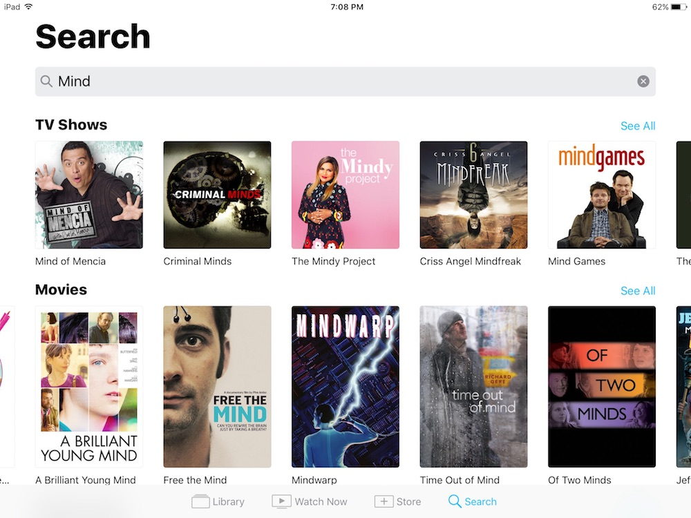 iOS TV app: Search all your apps with one master search engine