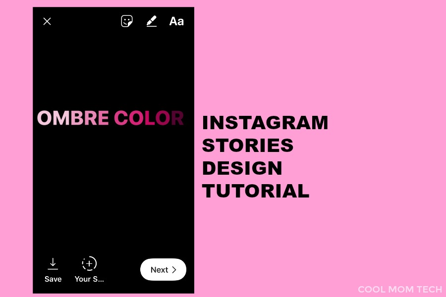 How to make ombre text overlays: Instagram stories design tutorial