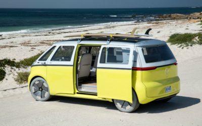 The new VW minibus: It's electric! Boogie woogie, woogie.