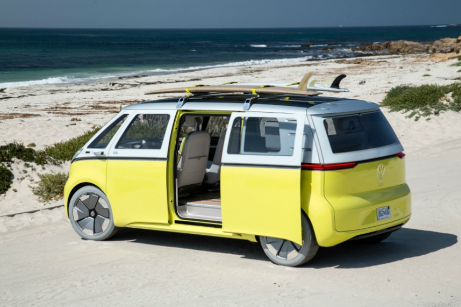 The new VW minibus: It's electric! Boogie woogie, woogie.