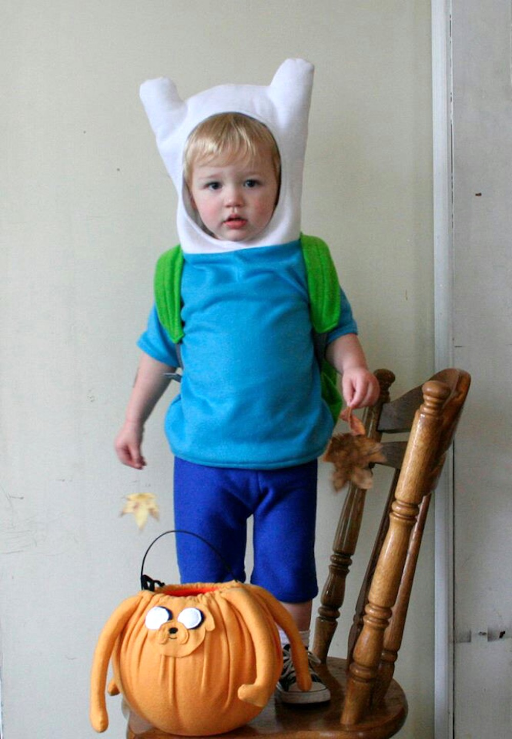 geek culture costumes for kids: finn the human from adventure time