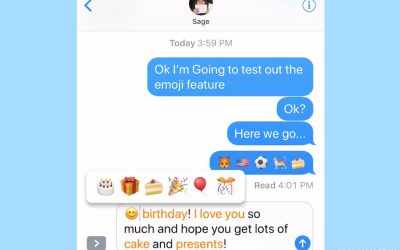 A cool time-saving emoji keyboard trick for iPhone (courtesy of my 10 year old)