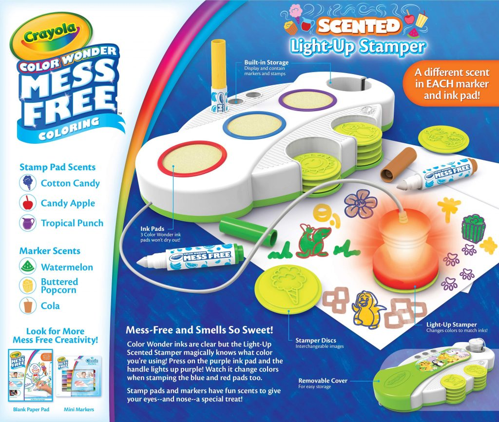 Crayola New Releases: Crayola Scented Light-up Stamper | Cool Mom Tech