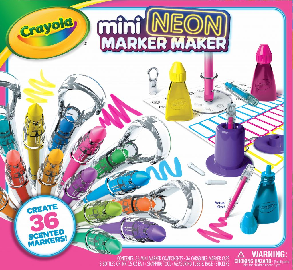 Crayola New Releases: Crayola Mini Neon Marker Maker | Cool Mom Tech