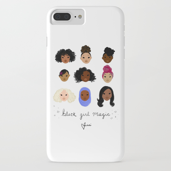 Girl power phone cases: Black Girl Magic phone case by Vashti Harrison