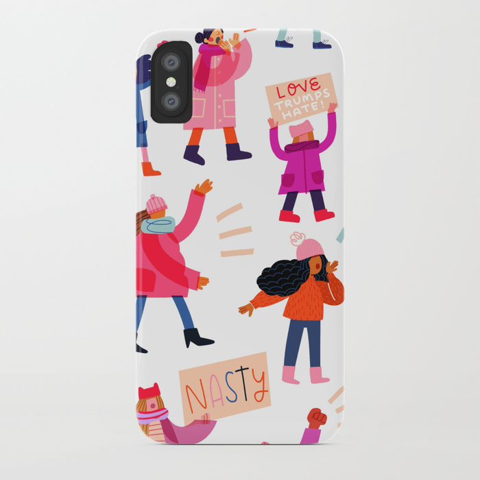Strong girl phone cases: Marching Together phone case by Alyssa M Gonzalez