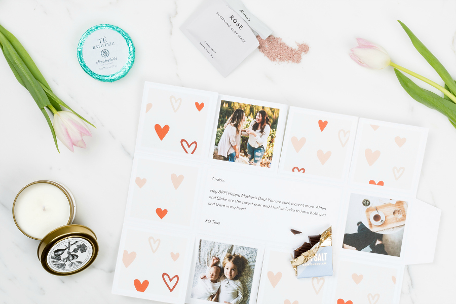 What's as easy as a Mother's Day card but so much cooler? These photo gift boxes.