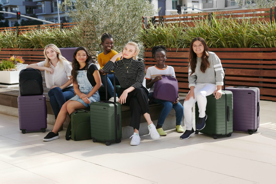 This new luggage collection helps an awesome cause – girls in tech!