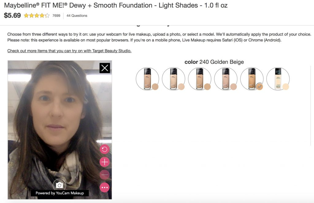Target AR Beauty Studio feature | Cool Mom Tech