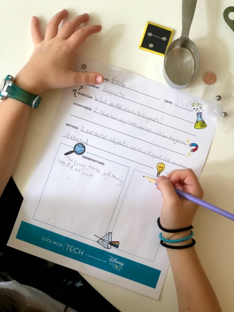 Free printable scientific recording worksheet for kids | Cool Mom Tech in partnership with Disney's A Wrinkle in Time