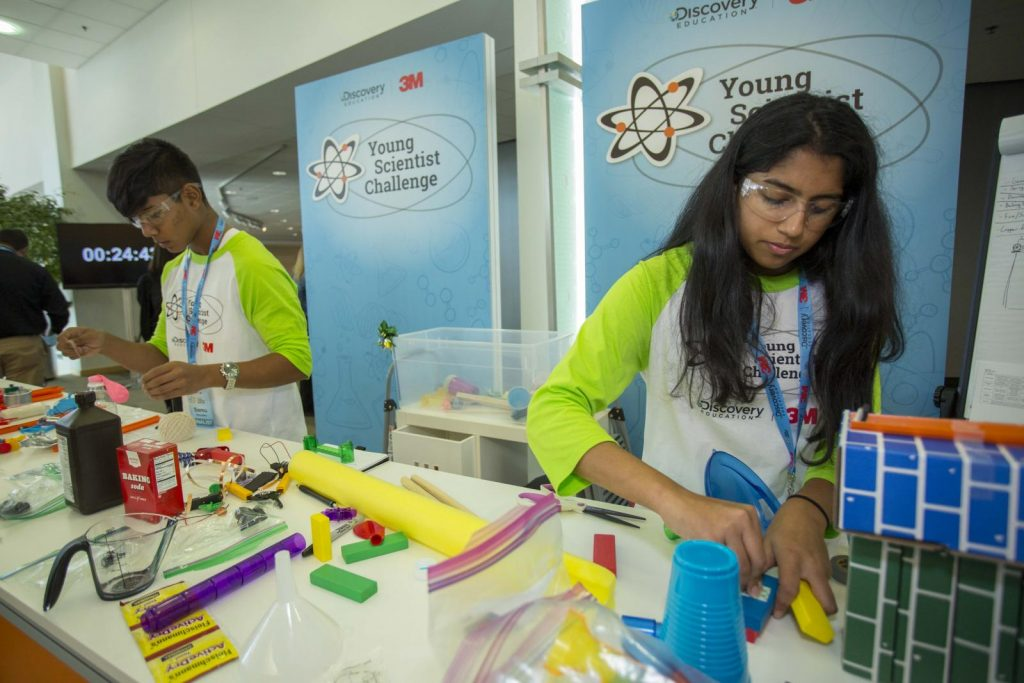 STEM contests for teens: Discovery Education Young Scientist Lab contestants