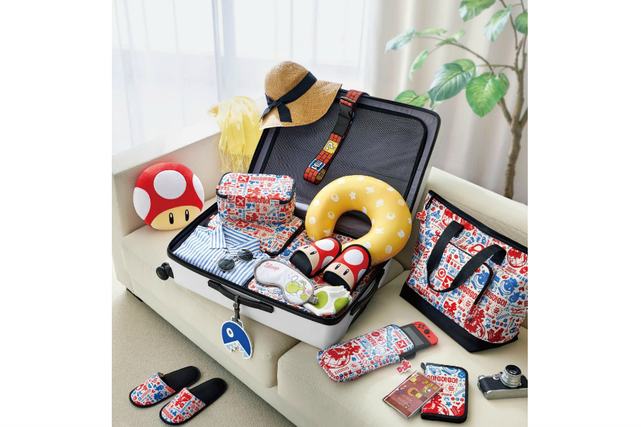 Super Mario luggage, wahoo!