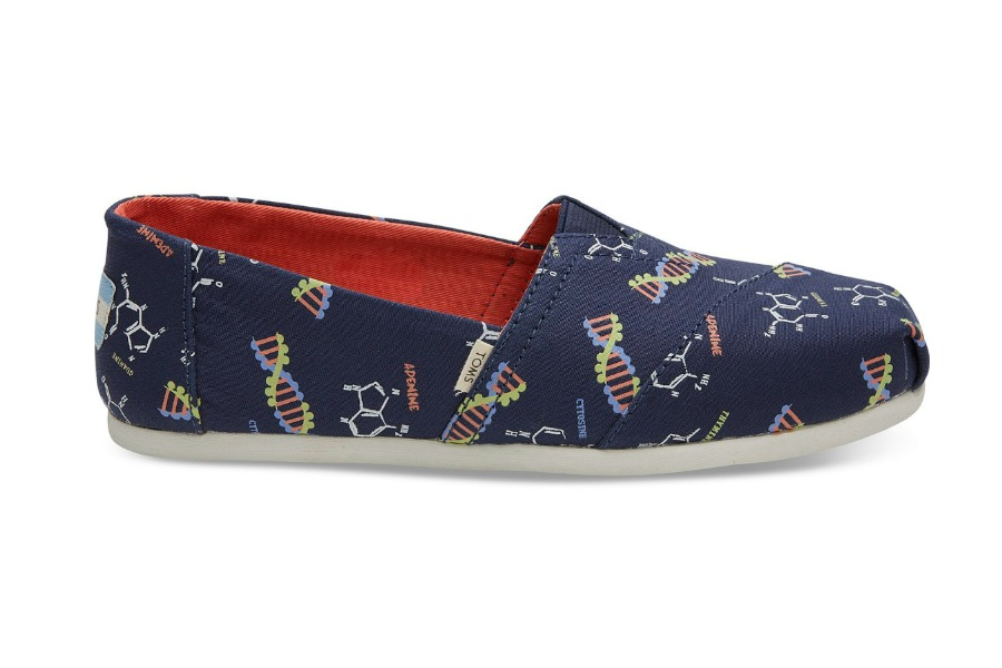 Geek game strong for back to school with these glow-in-the-dark DNA TOMS