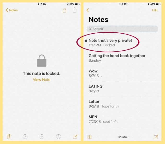 How to lock your iPhone notes on your iOS Notes App | CoolMomTech.com