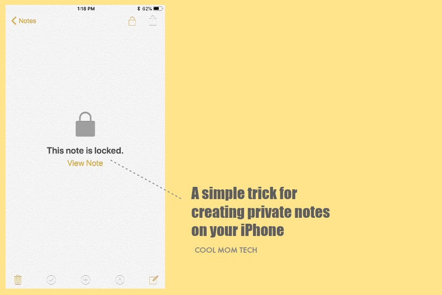 iPhone trick: How to lock and password-protect notes in your Notes app.