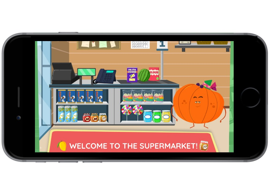 Kinsane Fruits vs Veggies Supermarket app for iOS and Android offers hours of safe, fun, self-directed playtime for kids (sponsor