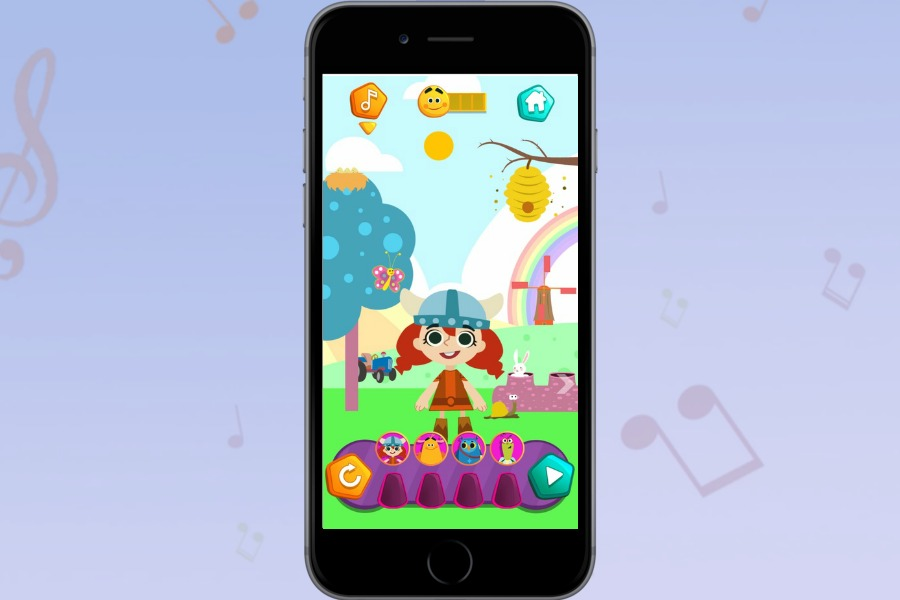 KinToons Nursery Rhyme DJ app is a safe way to let preschoolers get to know the basics of music