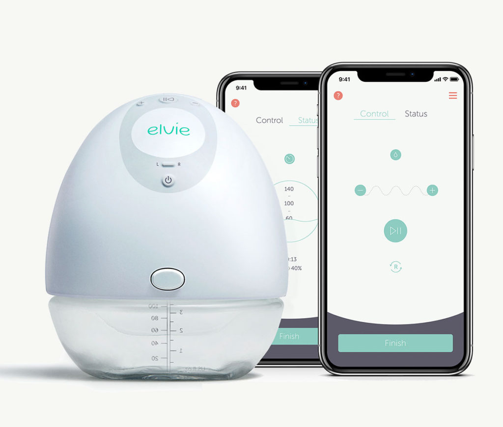 The Elvie breast pump: The single or double nestles into your bra and you can monitor it using a companion app