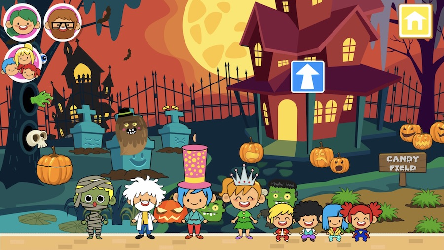 not too scary halloween apps for kids trick or treat town