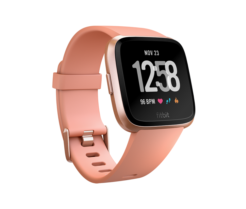 Stylish tech gifts for the trendsetter in your life: Fitbit Versa in rose gold