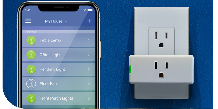 The Leviton Mini Plug-in WIFI connected plug | Sponsor