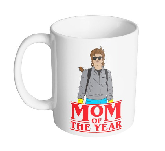 12 delightfully geeky gifts under $20 : Stranger Things Steve Harrington Mom Mug