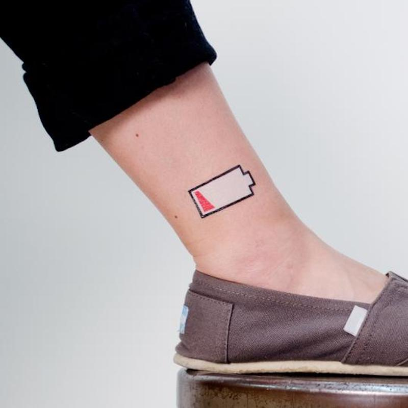 Coolest tech stocking stuffers: Low-battery tattoo at Tattly