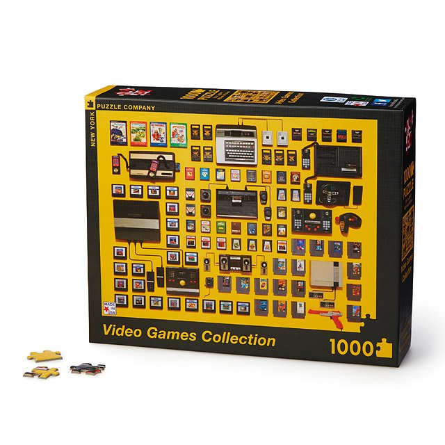 Delightfully geeky gifts under $20 | Video game collection puzzle