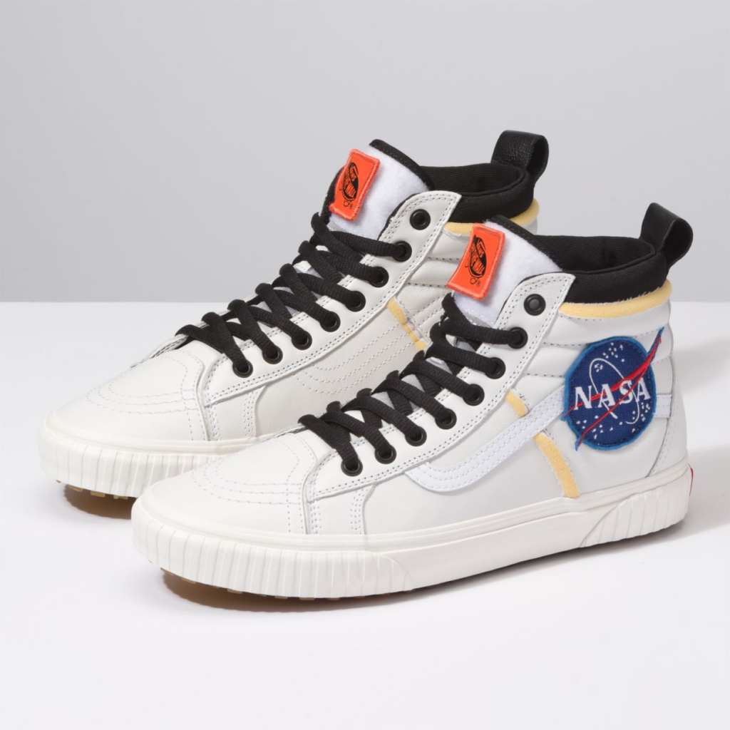 Vans x Space Voyager Sk8-hI 46 MTE DX sneakers in white, in partnership with NASA