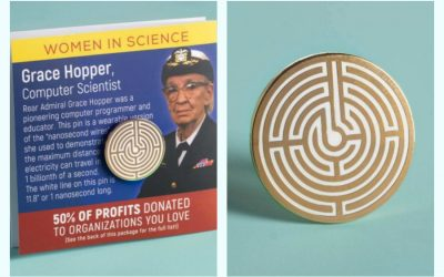 Grace Hopper fans! This Women in Science pin supports some very cool causes.