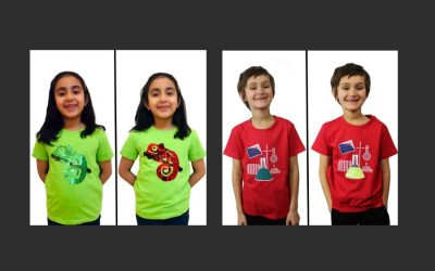 Sequins meet STEM with these fun flip sequin shirts for geeky kids