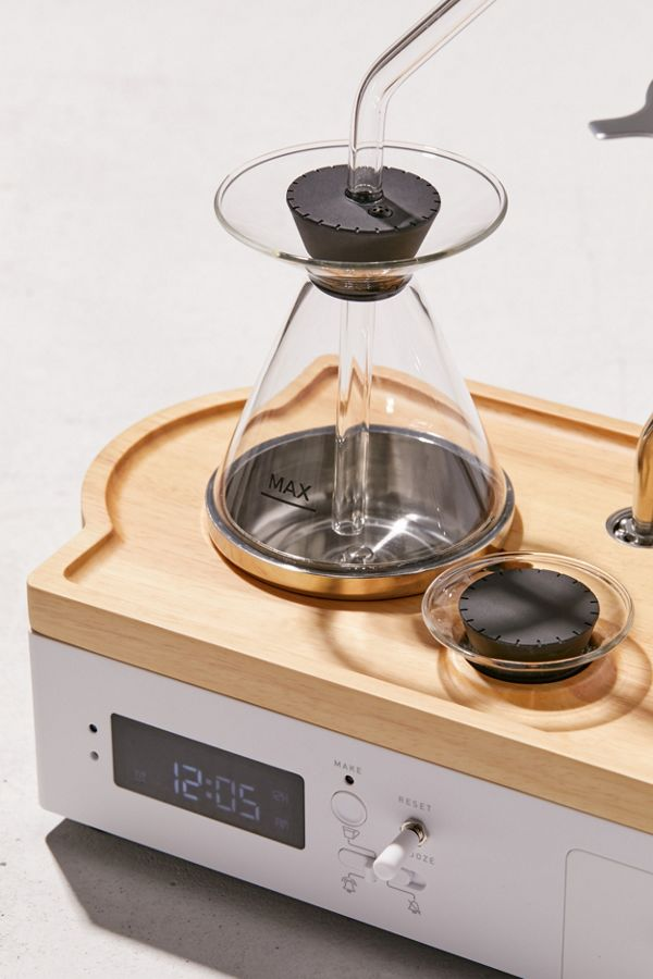 The Barisieur pour over coffee machine alarm clock. Because of course.