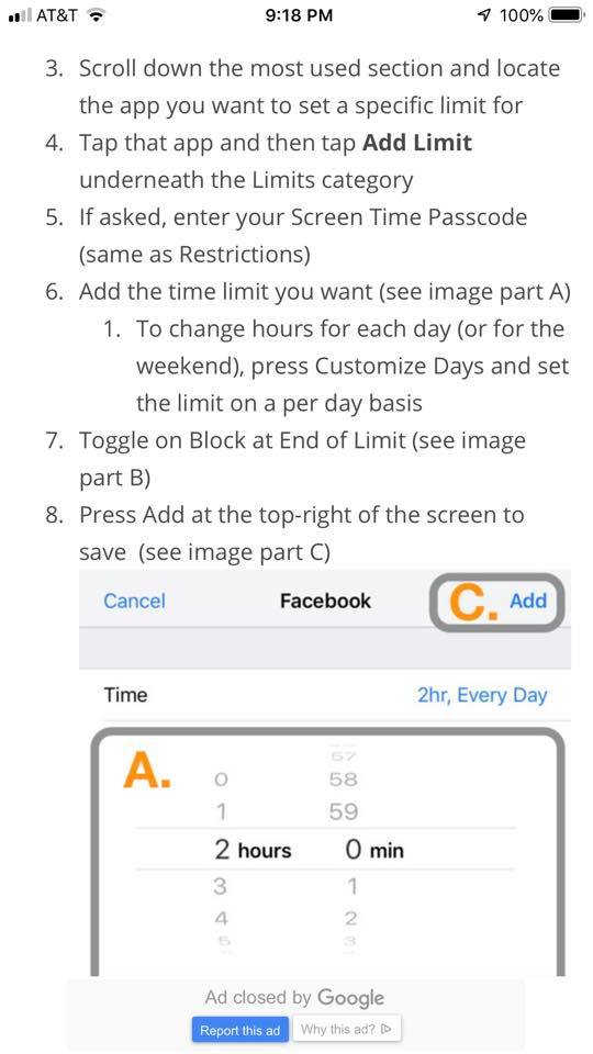 How to set time limits on specific apps using Screen Time on iPhone