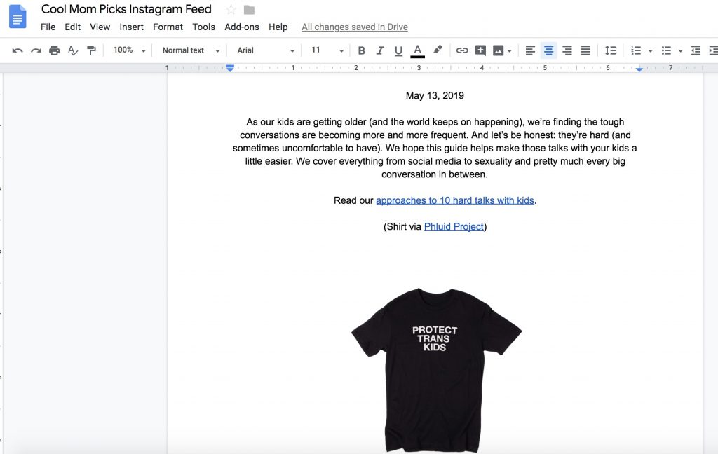 How to use Google Docs to message your kids