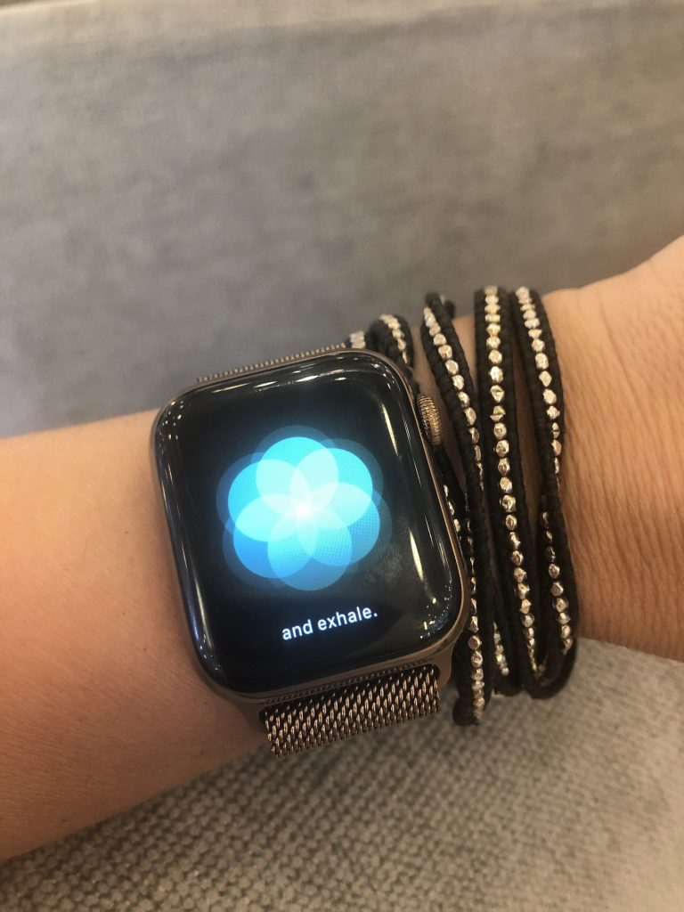 The Breathe app on the Apple Watch Series 4 helps you practice mindfulness, until it becomes a habit